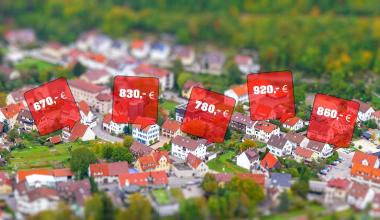 Mietpreise in Deutschland ziehen weiter kräftig an