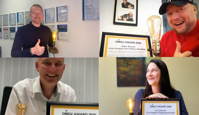 Vier Versicherungsagenturen für ihr Online-Marketing ausgezeichnet
